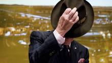 The fedora-sporting tycoon, who turned 86 on Nov. 8, is about to leave Barrick Gold Corp. (CHRIS YOUNG/THE CANADIAN PRESS)