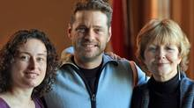 Actor Jason Priestley poses with the Sierra Club of Canada's Gretchen Fitzgerald Mary Gorman of the Save Our Seas and Shores Coalition. (Ruby Tree Films)
