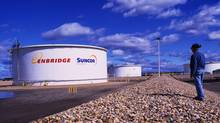 Suncor product tanks store refinery-ready feedstock and diesel fuel that is shipped by pipeline to customers and commercial and industrial markets throughout North America. (Suncor)