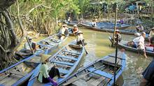A water taxi ride down the Mekong Delta is the closest experience on Earth to a trip down the River Styx. (Wallace Immen)