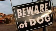 A 'Beware of Dog' file photo. (AP Photo/Denver Post, Helen H. Richardson/AP Photo/Denver Post, Helen H. Richardson)
