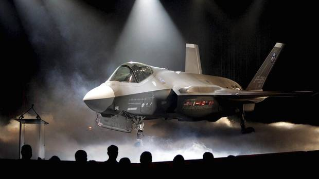 In this July 7, 2006, file photo, the Lockheed Martin F-35 Joint Strike Fighter is shown after it was unveiled in a ceremony in Fort Worth, Texas. (Matthew Otero/THE ASSOCIATED PRESS)