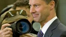 Nigel Wright, incoming chief of staff for Prime Minister Stephen Harper, arrives to testify before the Commons ethics committee on Nov.2, 2010. (Adrian Wyld/THE CANADIAN PRESS)