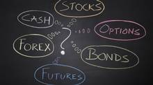 The choices investors face: stocks, options, bonds, futures, forex, cash. (iStockphoto.com)