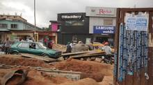 The Computer Village in Lagos, Nigeria, is home to most of the city's consumer electronics shops – both official and unofficial.  (Iain Marlow/The Globe and Mail)