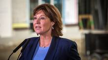 B.C Premier Christy Clark says thousands of new rental units announced earlier this week as part of the province's response to Metro Vancouver's housing crisis will be offered at subsidized below market rates. (Ben Nelms/The Globe and Mail)
