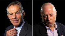 Former British prime minister Tony Blair and British writer Christopher Hitchens (Kevin Van Paassen/The Globe and Mail)