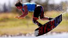 Aaron Rathy of Canada in action during the Men's Wakeboard at Boca Laguna Water Ski Club during Day Eight of the Pan American Games. (Scott Heavey/2011 Getty Images)