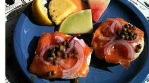 Atlantic salmon caught in New Brunswick and cold-smoked at the Fumoir St-Antoine in Quebec's Charlevoix region.