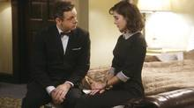 Michael Sheen stars as William Masters and Lizzy Caplan as Virginia Johnson in Masters of Sex, which approaches sex as an imporant, yet neglected, aspect of health care.