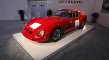 A 1962-63 Ferrari 250 GTO Berlinetta is displayed during a preview for the Bonhams Quail Lodge car auction in Carmel, Calif., August 14, 2014. The Ferrari GTO was auctioned at $38,115,000 becoming the most valuable car to be sold at auction according to Bonhams. The auction of collector cars is held during the Pebble Beach Automotive Week which culminates with the Concours d'Elegance. (MICHAEL FIALA/REUTERS)