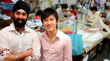 Noorneet Singh(left) and Alvin Zhang, handles our factory operations of ShirtPal. (unknown/Ryan Tan Zhong Hong/ShirtPal)