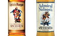 Captain Morgan and Admiral Nelson's rum bottles. (Globe and Mail Update)