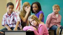 Young girl being bullied at school (Dawn Lackner/Getty Images/iStockphoto)