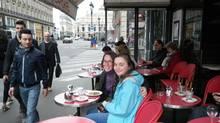 A Paris cafe on Avenue de l'Opera.
