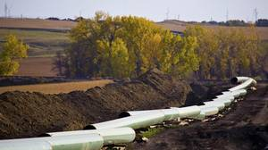 The Keystone XL pipeline under construction in North Dakota. Prime Minister Stephen Harper's Conservative government and Alberta Premier Alison Redford have aggressively lobbied U.S. politicians ahead of the Obama administration's decision, likely this summer, whether to approve the $5.3-billion TransCanada Corp. project.