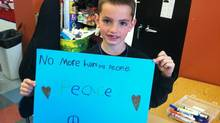 Martin Richard, 8, who died in the bombings, had participated in a peace march to Boston last year with his class.