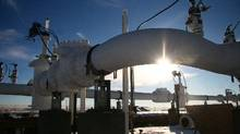 File photo of an Enbridge pipeline. (Nathan VanderKlippe/The Globe and Mail)