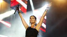 """Canadian singer Nelly Furtado performs at the """"Isle of MTV Malta Special"""" concert in Floriana, outside Valletta, June 26, 2012. (DARRIN ZAMMIT LUPI/REUTERS)"""