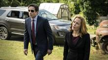 The revived X-Files, with David Duchovny as Fox Mulder and Gillian Anderson as Dana Scully, underlines how much has changed since the 1990s. (Ed Araquel/AP)