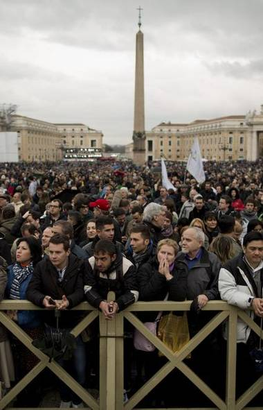 There's only one question on the minds of the throngs of visitors waiting at the Vatican for the chimney smoke in St. Peter's Square during the second day of the conclave to elect a new pope: Who will be the next big tuna? Let's take a look at the nominees (Oded Balilty/AP)