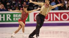 Canadian pairs Meagan Duhamel and Eric Radford compete at the ISU World Figure Skating Championships 2013 in London, Ont. Wednesday, March 13, 2013. (KEVIN VAN PAASSEN/THE GLOBE AND MAIL)