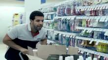 """Drake in a screen grab from the video for his song """"Started from the Bottom"""""""