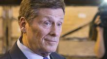 Toronto Mayor John Tory is pictured inside a Toronto Transit Commission maintenance depot on Thursday, June 18, 2015. (Chris Young/THE CANADIAN PRESS)