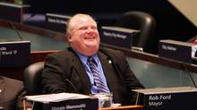 Toronto Mayor Rob Ford during his first day meeting the Toronto City Council where he scored his first major victory as mayor by officially killing Toronto's despised $60 vehicle-registration tax, Toronto December 16 2010. (Fernando Morales/The Globe and Mail/Fernando Morales/The Globe and Mail)