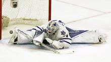 Toronto Maple Leafs goalie James Reimer is shown on Feb. 6, 2016. (FRED CHARTRAND/THE CANADIAN PRESS)