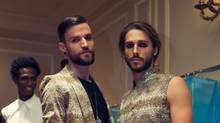 Models wear fashions by Joao Paulo Guedes, who won the Emerging Menswear Designer Award at Toronto's inaugural Men's Fashion Week. (Shayne Gray)