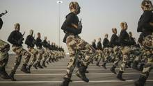 In this Sept. 17, 2015, file photo, Saudi security forces take part in a military parade in Mecca, Saudi Arabia. (Mosa'ab Elshamy/AP)