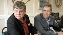 Yukon MP Larry Bagnell, left, and Liberal Leader Michael Ignatieff both voted to preserve the long-gun registry. Mr. Bagnell's vote may bring negative repercussions during the next election. (Vince Fedoroff/The Canadian Press)