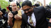 Former hedge fund founder Raj Rajaratnam leaves court after he was convicted on all counts of fraud and conspiracy in one of the biggest Wall Street insider trading trial in a number of years. (EMMANUEL DUNAND/EMMANUEL DUNAND/AFP/GETTY IMAGES)