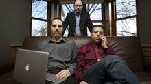 Nart Villeneuve, Greg Walton and Ronald J. Deibert discovered the spying operation dubbed GhostNet. They are seen at the Munk Centre on March 29 2009. (JENNIFER ROBERTS/JENNIFER ROBERTS FOR THE GLOBE AND MAIL)
