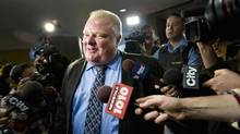 Toronto Mayor Rob Ford makes his way to his City Hall office on Nov 15, 2013. (MOE DOIRON/THE GLOBE AND MAIL)
