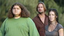 Jorge Garcia, left, Josh Holloway, middle, and Evangeline Lilly appear in Lost. (MARIO PEREZ)