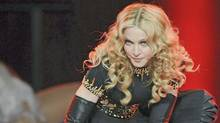 Singer Madonna performs on the Bridgestone Super Bowl XLVI Halftime Show at Lucas Oil Stadium on February 5, 2012 in Indianapolis. (Frank Micelotta / Picture Group)