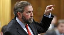NDP Leader Thomas Mulcair speaks during Question Period in the House of Commons on May 2, 2012. (CHRIS WATTIE/Chris Wattie/Reuters)
