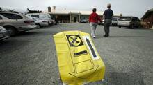 A couple walks up to a polling station in Saanich-Gulf Islands, near Sidney, B.C., to vote in the federal election on Oct. 14, 2008. (Deddeda Stemler/Deddeda Stemler for The Globe and Mail)