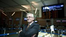 David Solloway, president at Canada Jetlines Ltd., is photographed at Vancouver International Airport in Richmond, B.C., on July 10, 2014. (Rafal Gerszak for The Globe and Mail)