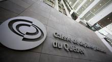 The Caisse de depot et placement du Quebec (CDP) building is seen in Montreal, February 26, 2014. (CHRISTINNE MUSCHI/REUTERS)