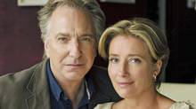 Alan Rickman and Emma Thompson in The Song of Lunch. (Nick Briggs / BBC)