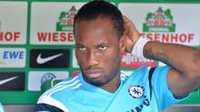 Didier Drogba sits on the bench (Carmen Jaspersen/AP)