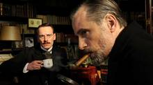 "Michael Fassbender (left) and Viggo Mortensen in a scene from ""A Dangerous Method"""