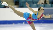 Kaetlyn Osmond skates during the Senior Women short program at the Canadian Figure Skating Championships in Moncton, New Brunswick, January 20, 2012. (MIKE CASSESE/REUTERS)