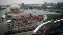 An eastbound Skytrain arrives at Main Street-Science World station in Vancouver, B.C., in January 2013. (Darryl Dyck for The Globe and Mail)
