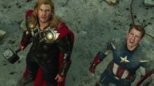 Thor and Captain America, from The Avengers (Handout)