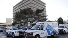Toronto emergency services ambulances. (Fred Lum/The Globe and Mail)