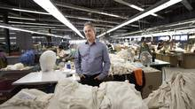 Steven Borsook's company still makes most of its Parkhurst knitwear in Canada, despite dramatically higher labour costs. (Moe Doiron/The Globe and Mail)